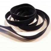 1m nachtblaues Kunstlederband 10mm x 1mm Wildlederoptik - Schmuckzubehör Lederband