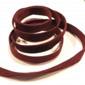 1m weinrotes Kunstlederband 10mm x 1mm Wildlederoptik - Schmuckzubehör Lederband