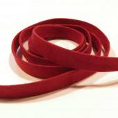1m dunkelrotes Kunstlederband 10mm x 1mm Wildlederoptik - Schmuckzubehör Lederband