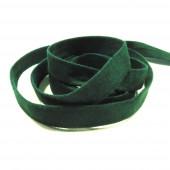 1m dunkelgrünes Kunstlederband 10mm x 1mm Wildlederoptik - Schmuckzubehör Lederband