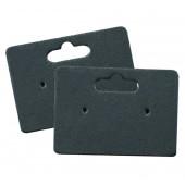 20 matte schwarze Schmuckkarten 35x25mm mit Aufhänger Papier - Schmuckzubehör