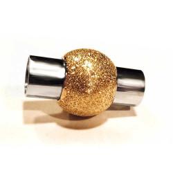 1x goldfarben Stardust Edelstahl Magnetverschluss 20x12mm Innen 6mm zum Einkleben - Edelstahl Schmuckzubehör