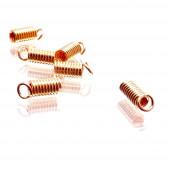 10x Rosegoldfarben Spiralendkappe 7x3mm Innen 2mm rosegoldfarben Einklebkappen - Schmuckzubehör