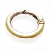 1x runder bronze Ringverschluss ca. 25x4mm bronze Karabinerhaken - bronze Schmuckzubehör