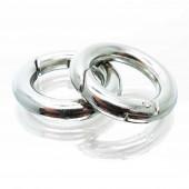 Ringverschluss 18x3,5mm silberfarben runder Karabinerhaken - Schmuckzubehör