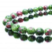 5x Turmalin Perle 8mm Natursteinperlen - Schmuckzubehör