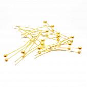 20 goldfarben Nietstifte 20mm mit rundem Kopf - Schmuckzubehör Nietstifte