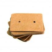 20 natur braune Schmuck Karten 33x25mm Papier ohne Schrift Schmuck Display Ohrstecker - Schmuckzubehör