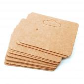 20 natur braune Schmuck Karten 50x35mm mit Aufhänger aus Papier - Schmuckzubehör
