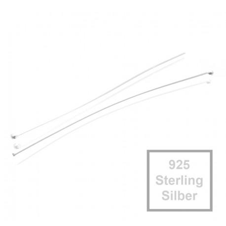 DIY925 10 St/ück Nietstifte Kopfstifte 925 Sterling Silber 50mm x /Ø 0,5mm x 1,8mm Kopf Prismenstifte f/ür Ohrh/änger Schmuckherstellung