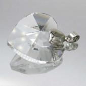1x Glas Herz Diamond 41x28mm Schmuckanhänger - Schmuckzubehör