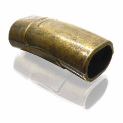 1x bronzefarben Magnetverschluss 26x13mm Innen 10,5x6,7mm - Schmuckzubehör