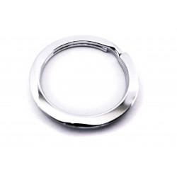 Schlüsselring 28mm flacher Ring silberfarben stabil - Schlüsselanhänger selber machen