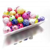 20g 6-14mm glitzernde Acryl Perlen im bunten Perlenmix - Schmuckzubehör Acrylperlen