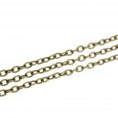 50cm bronzefarbene Kette 3x4,6x0,9mm Gliederkette zum bronzefarbene Ketten Selbermachen - Schmuckzubehör