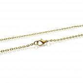 1x bronzefarben Halskette 40,5cm 3,2mm Gliederkette mit Karabinerhaken - Schmuckzubehör Schmuckkette