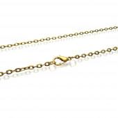 1x bronzefarben Halskette 51cm 4x3mm Gliederkette mit Karabinerhaken - Schmuckzubehör Schmuckkette