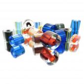 50g Zylinder Glasperlen 7-12mm im bunten Perlenmix - Glasschmuck Schmuckzubehör