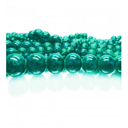 200g petrolfarbene Crackle Glasperlen 4-12mm im Mix - Schmuckzubehör