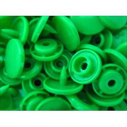 10x Grüne KAM Snaps Größe T-5 Größe 20 Plastik Druckknöpfe - Bastelbedarf
