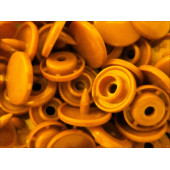 10x Gelbe KAM Snaps Größe T-5 Größe 20 Plastik Druckknöpfe - Bastelbedarf