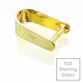 1x vergoldete 925er Collierschlaufe 12,5x7,5x4,5mm Sterling Silber - 925 Schmuckzubehör