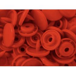 10x Apricotfarbene bzw. Lachsfarbene KAM Snaps Größe T-5 Größe 20 Plastik Druckknöpfe - Bastelbefarf