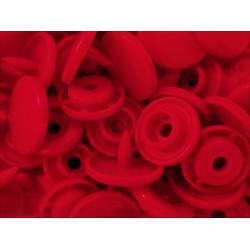 10x Erdbeerrote KAM Snaps Größe T-5 Größe 20 Plastik Druckknöpfe - Bastelbedarf