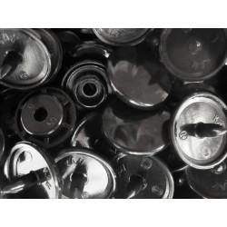 10x Schwarze KAM Snaps Größe T-5 Größe 20 Plastik Druckknöpfe