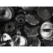 10x Schwarze KAM Snaps Größe T-5 Größe 20 Plastik Druckknöpfe - Bastelbedarf