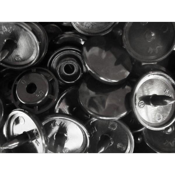 10x schwarze kam snaps gr e t 5 gr e 20 plastik druckkn pfe. Black Bedroom Furniture Sets. Home Design Ideas