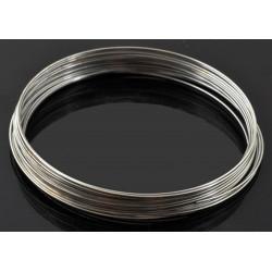 10x Ringe silberfarben Spiraldraht 55mm Memory Wire silberfarben - Schmuckzubehör