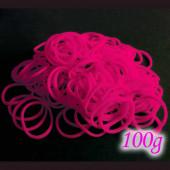 100g pink Loom Gummibänder 16mm - Schmuckzubehör Loom Armband