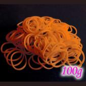 100g orange Loom Gummibänder 16mm - Schmuckzubehör Loom Armband