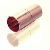 1x Magnetverschluss Innen 8mm 9x20mm rosegoldfarben Verschluss zum Einkleben Zylinder - Schmuckzubehör