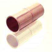 Rosegoldfarbener Magnet Verschluss 8x20mm Innen 7mm Verschluss zum Einkleben Zylinder - Schmuckzubehör