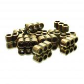 1x bronzefarben Bandverbinder Innen 3mm 13x4,5mm - Schmuckzubehör