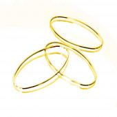 2x goldfarben Ring 16x8mm x 1mm oval geschlossen - Schmuckzubehör