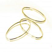 2x blaßgoldfarben Ring 13x7mm x 1mm oval geschlossen - Schmuckzubehör