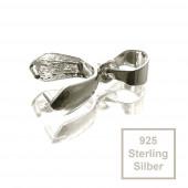 1x Sterling Silber Collierschlaufe 13x4mm Haken für Anhänger 925 Silber - 925 Schmuckzubehör Collierschlaufe