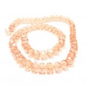 68 rosa Glasperlen geschliffene Rondelle - Schmuckzubehör Glasperlen