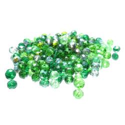 145x Glasperlen 4x3mm Perlenmix grüntönig - Schmuckzubehör
