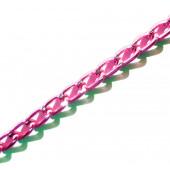 Fuchsia / pink Kette aus Aluminium 6x3.5mm rosa Gliederkette - pink Schmuckzubehör