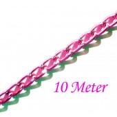 10m pink Alukette 6x3,5mm Gliederkette - pink Schmuckzubehör
