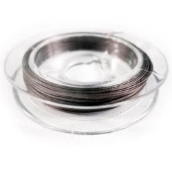 Gunmetal Schmuckdraht 0,38mm Nylon ummantelt - Fädelmaterial Schmuckzubehör