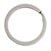 1x Edelstahl Schlüsselring 32mm flacher Ring silberfarben - Schlüsselanhänger basteln