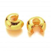 20 Kaschierperlen 4mm goldfarbene Cover Crimp Perlen - Schmuckzubehör