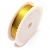 Gold Kupferdraht 0,4mm Schmuckdraht auf 15m Rolle - Schmuckzubehör