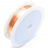 12m rosegoldfarbener Eisendraht 0,4mm Schmuckdraht auf Rolle - Schmuckzubehör