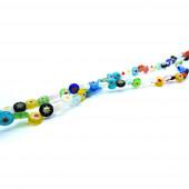 63 Stück runde 6mm Millefiori Perlen Mix - Schmuckzubehör